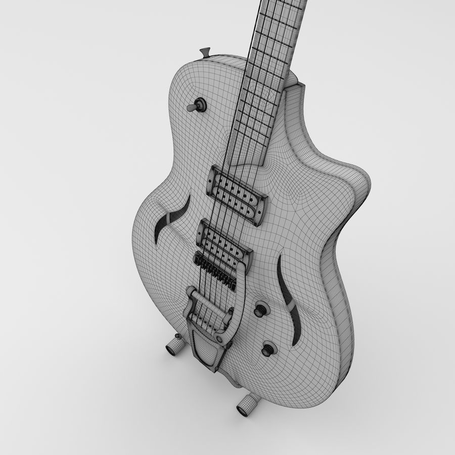 Elektrische gitaar royalty-free 3d model - Preview no. 6