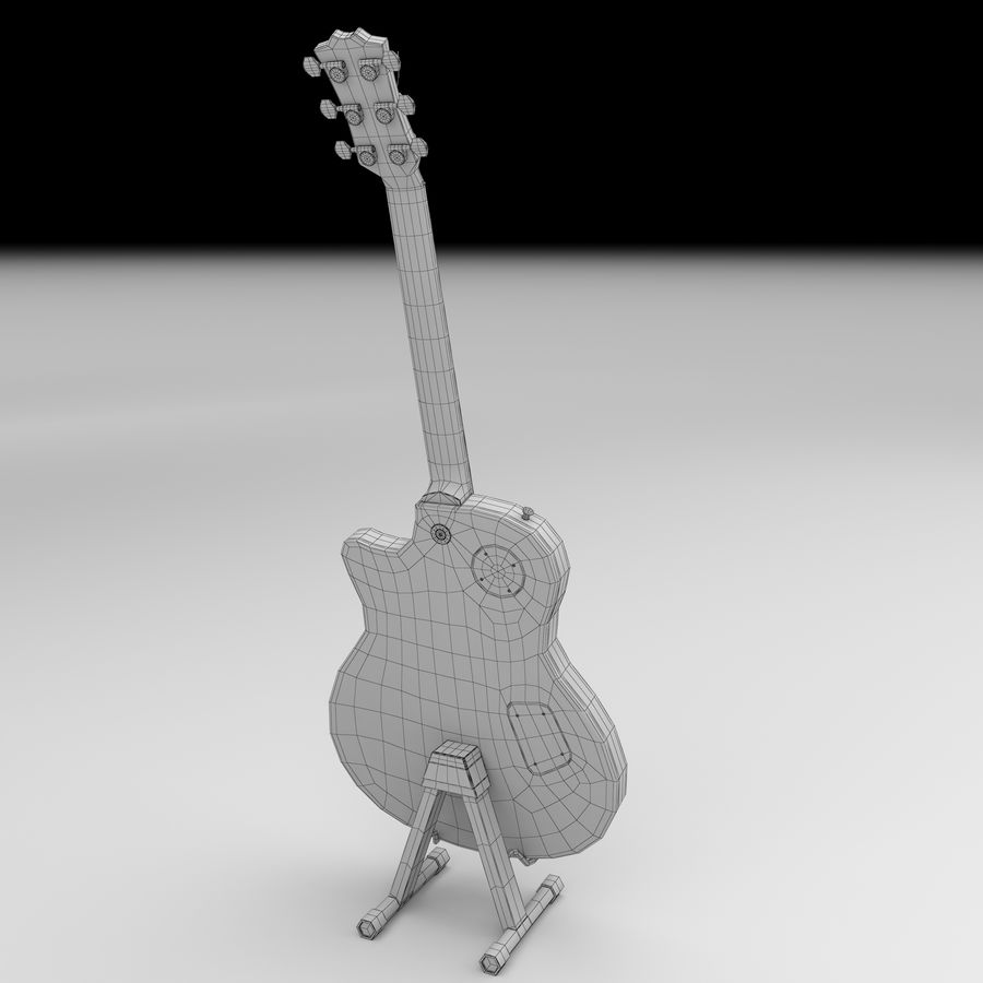 Elektrische gitaar royalty-free 3d model - Preview no. 10