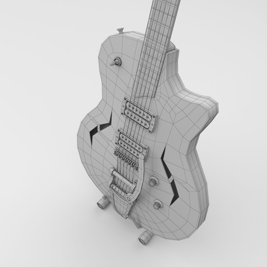 Elektrische gitaar royalty-free 3d model - Preview no. 7