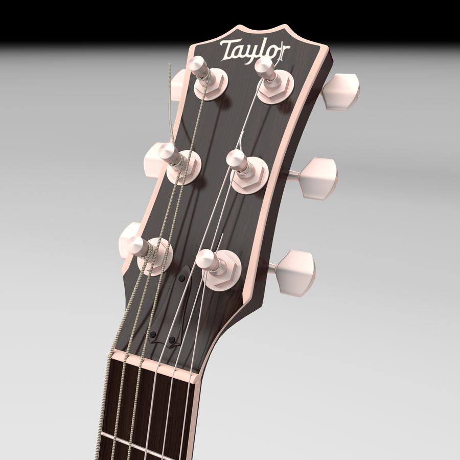 Elektrische gitaar royalty-free 3d model - Preview no. 14