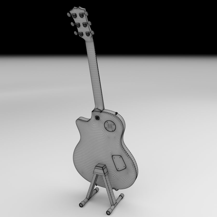 Elektrische gitaar royalty-free 3d model - Preview no. 9