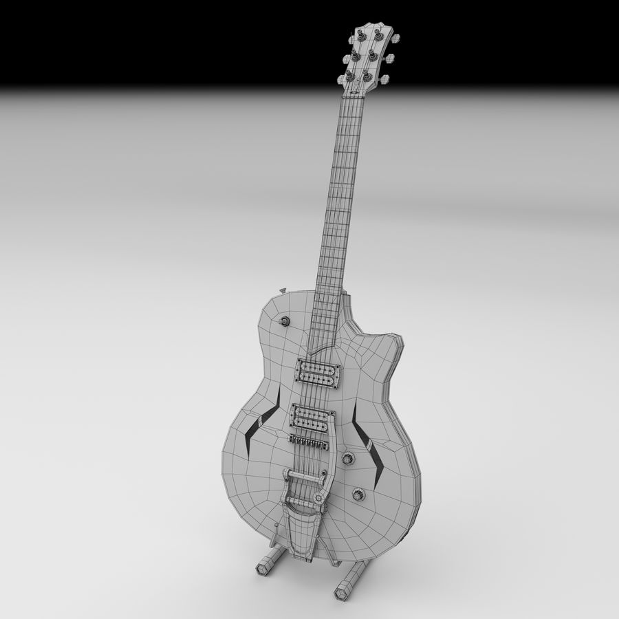 Elektrische gitaar royalty-free 3d model - Preview no. 4