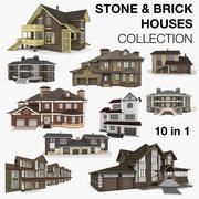 미국과 유럽의 주택 10 in 1 컬렉션 3d model