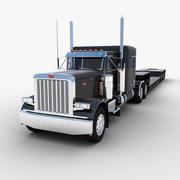 Camion semirimorchio Lowboy 3d model