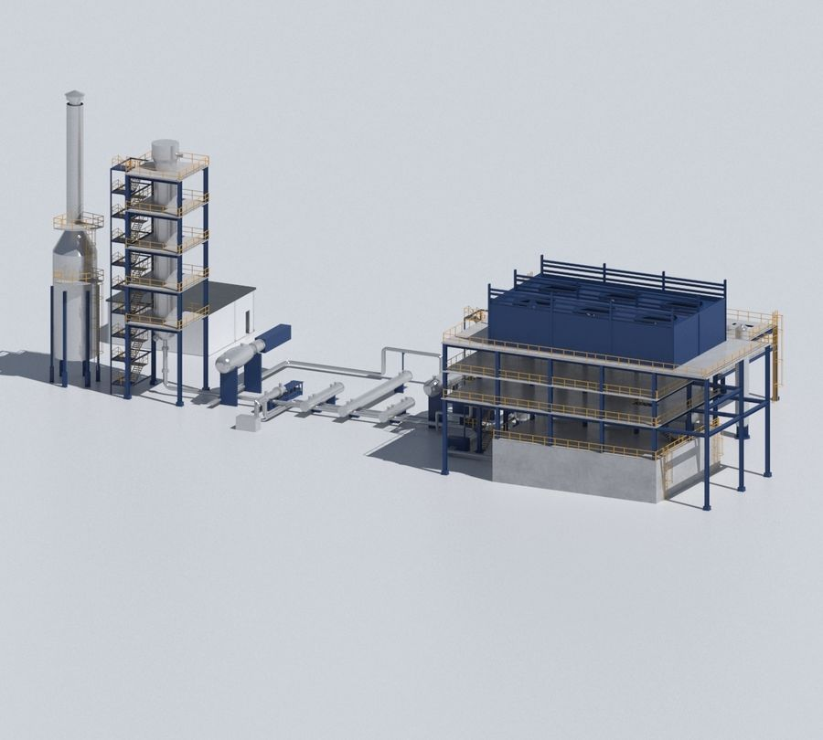 Factory 03 royalty-free 3d model - Preview no. 43