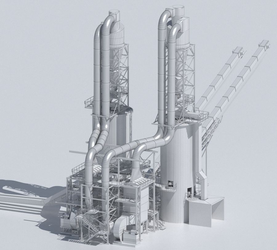 Factory 03 royalty-free 3d model - Preview no. 14