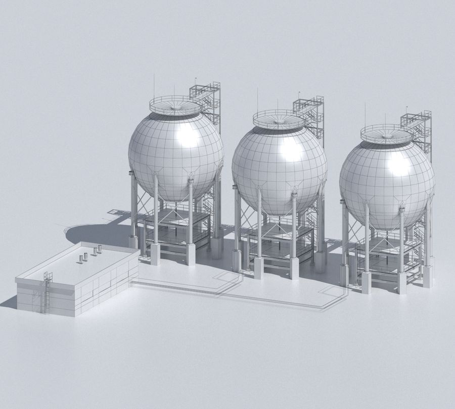 Factory 03 royalty-free 3d model - Preview no. 48