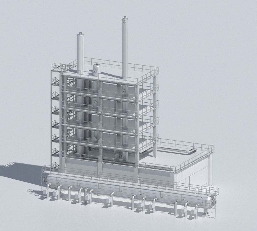 Factory 03 royalty-free 3d model - Preview no. 46