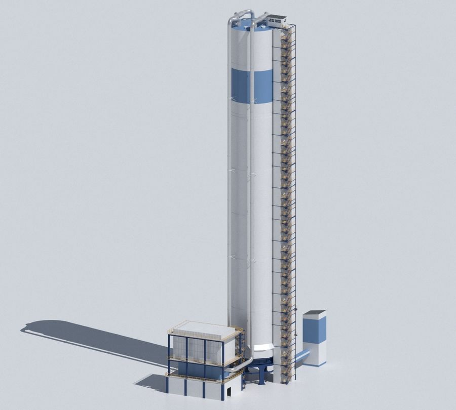 Factory 03 royalty-free 3d model - Preview no. 29