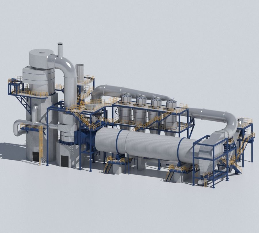Factory 03 royalty-free 3d model - Preview no. 9