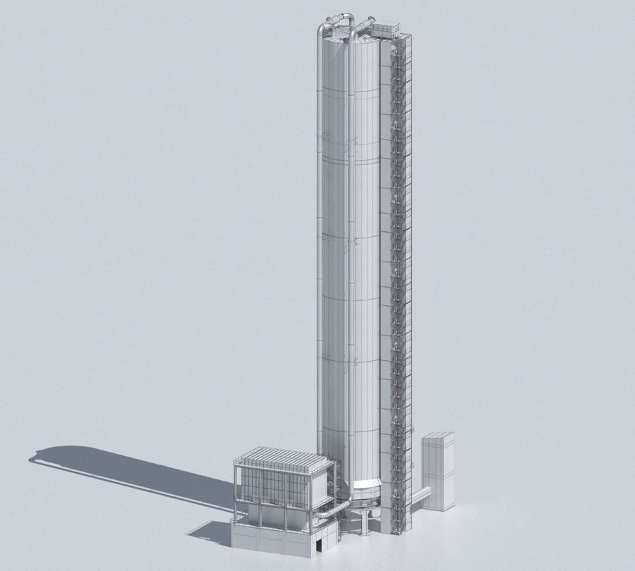 Factory 03 royalty-free 3d model - Preview no. 30