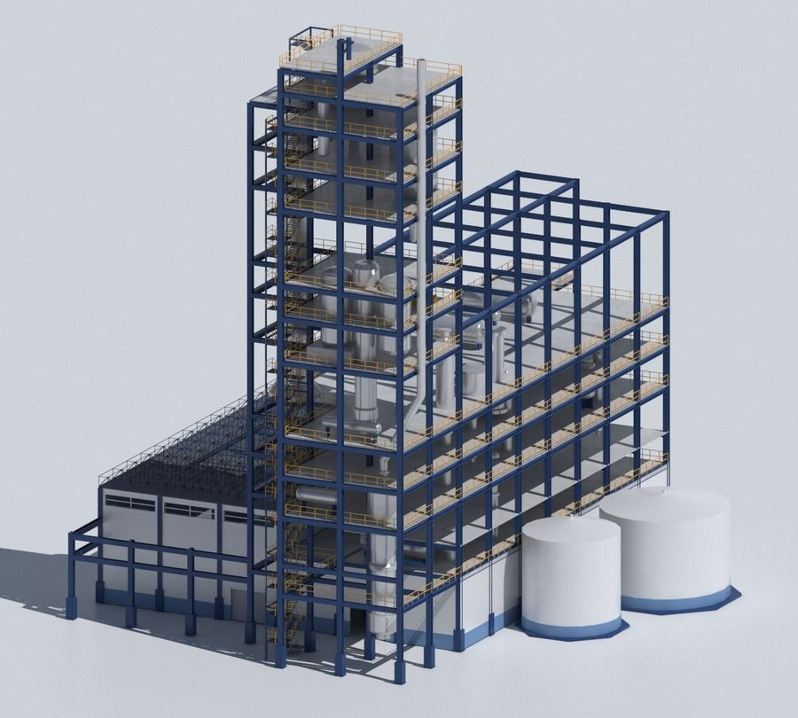 Factory 03 royalty-free 3d model - Preview no. 31