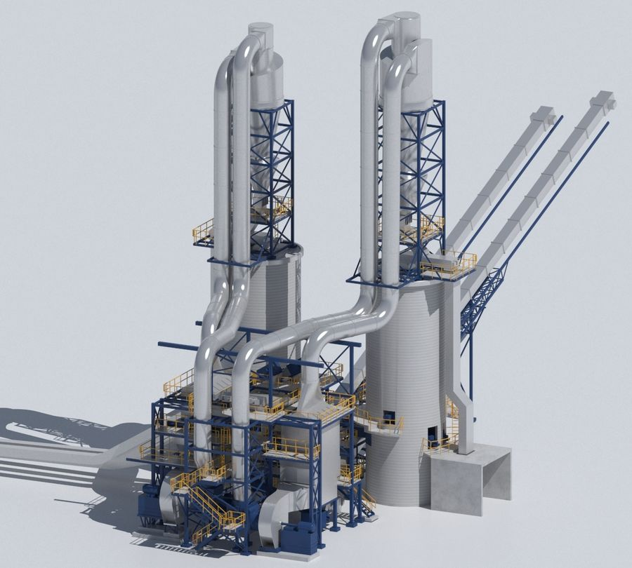 Factory 03 royalty-free 3d model - Preview no. 13
