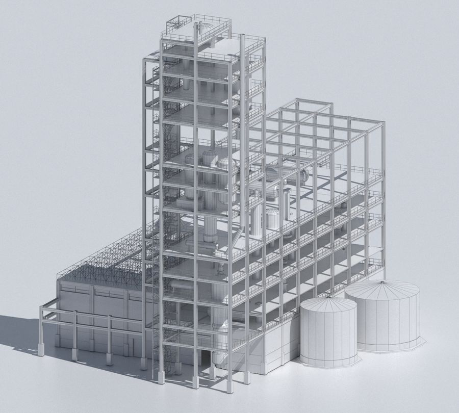 Factory 03 royalty-free 3d model - Preview no. 32