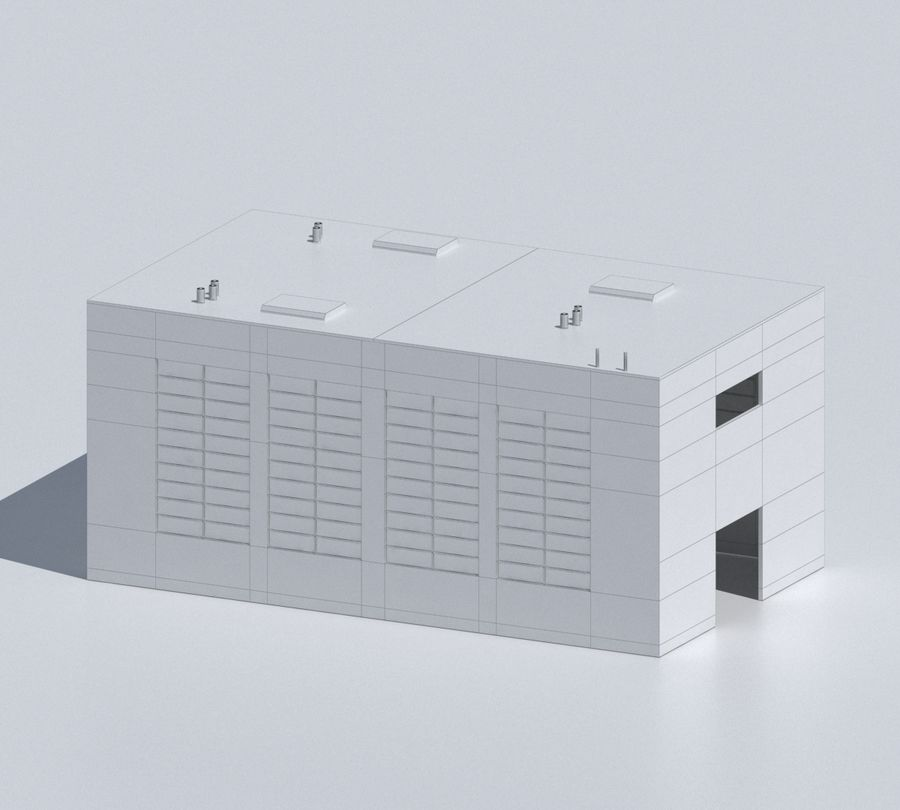 Factory 03 royalty-free 3d model - Preview no. 38