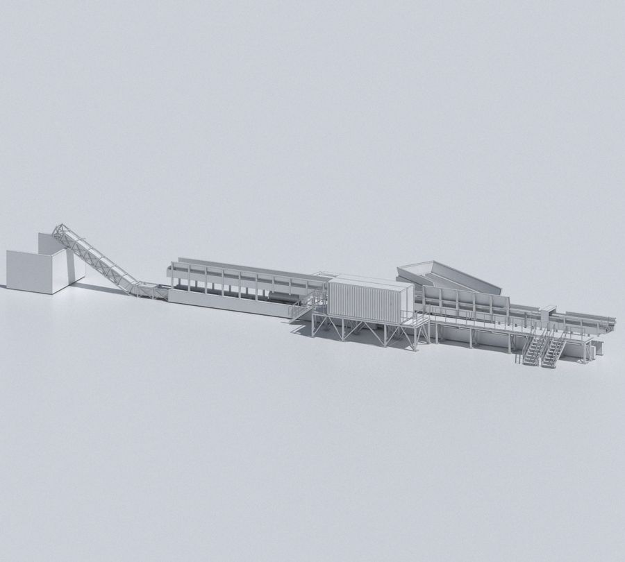 Factory 03 royalty-free 3d model - Preview no. 28