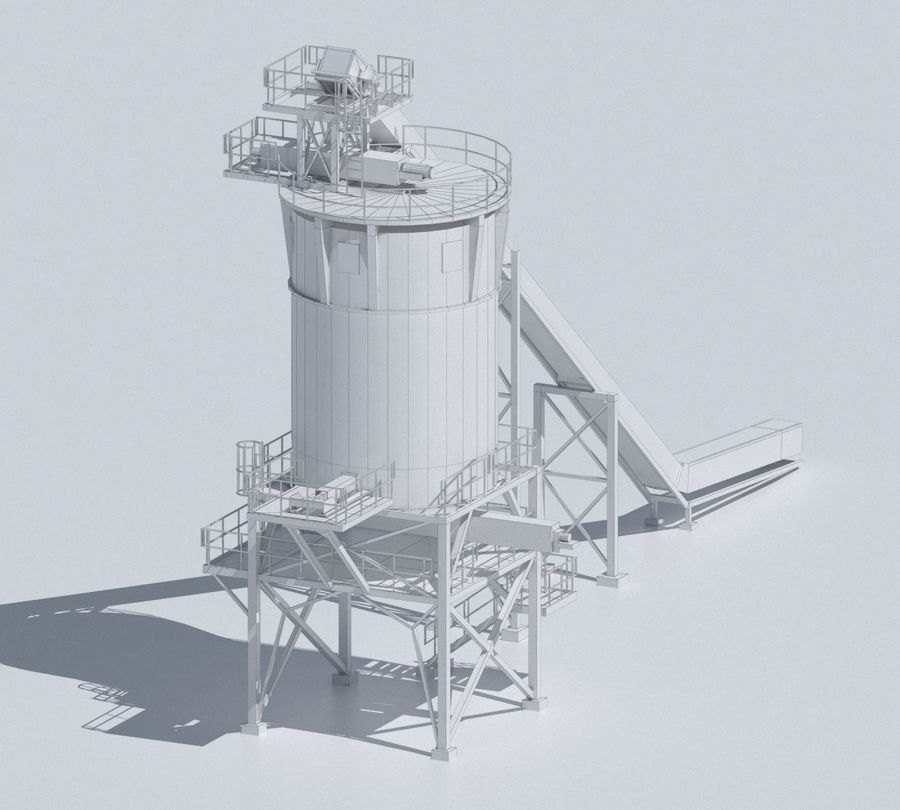 Factory 03 royalty-free 3d model - Preview no. 16