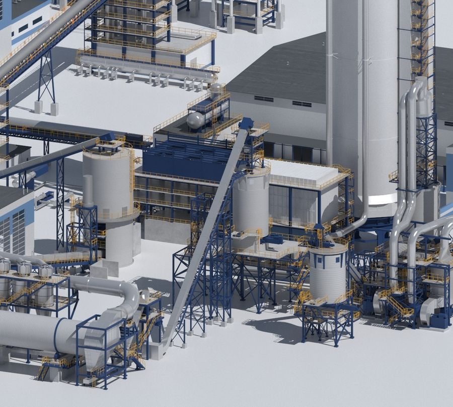Factory 03 royalty-free 3d model - Preview no. 4