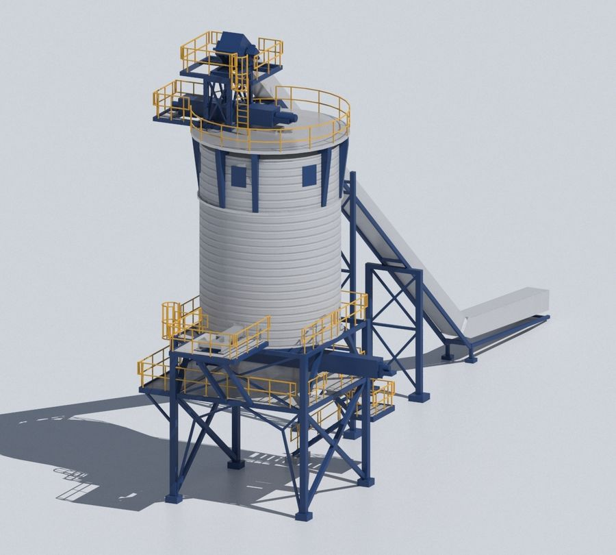 Factory 03 royalty-free 3d model - Preview no. 15