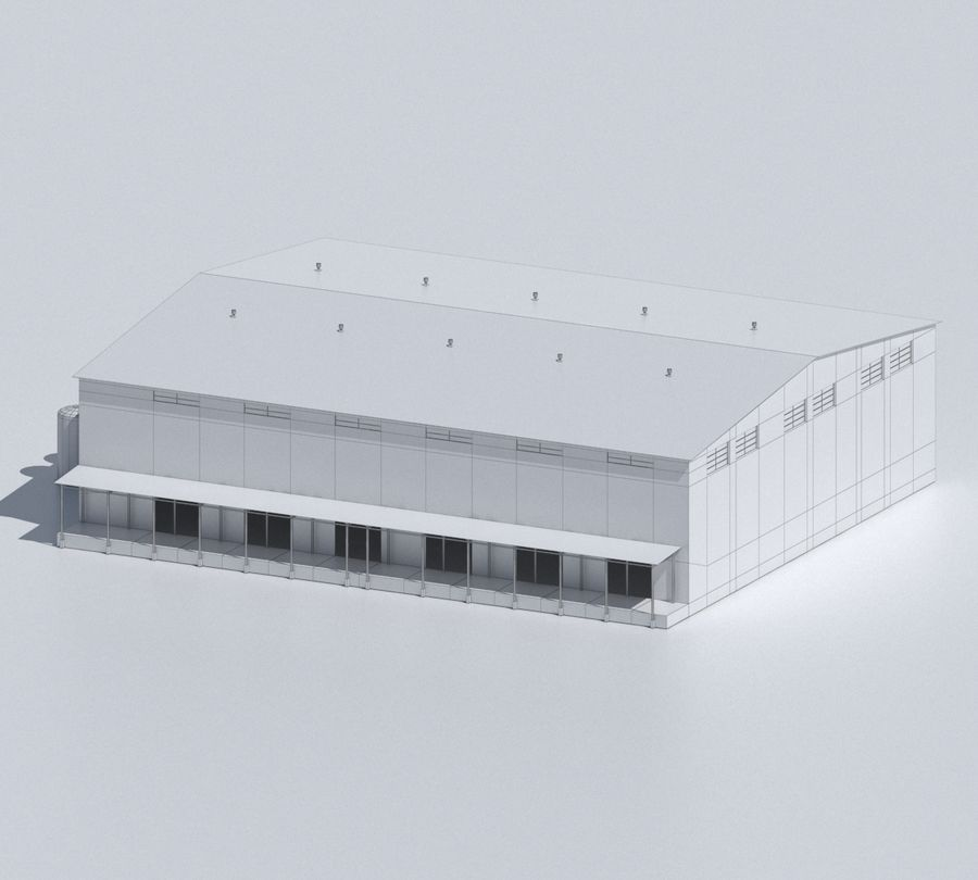 Factory 03 royalty-free 3d model - Preview no. 52
