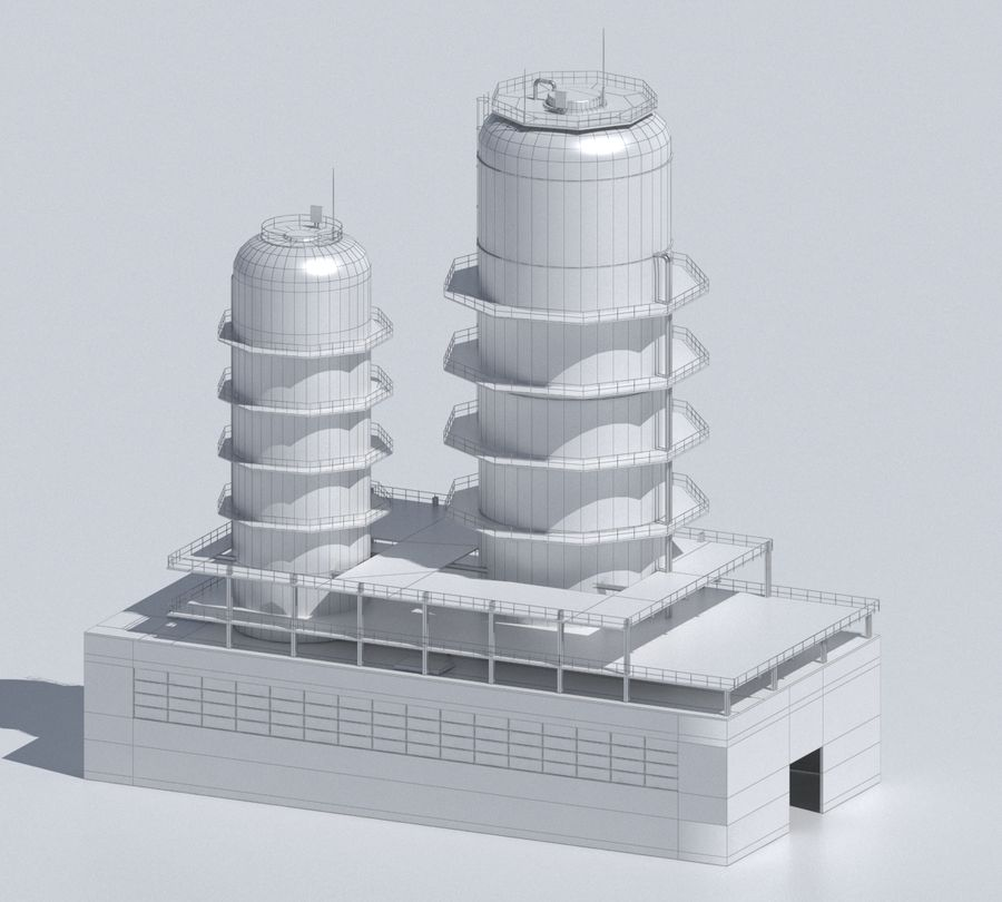 Factory 03 royalty-free 3d model - Preview no. 50