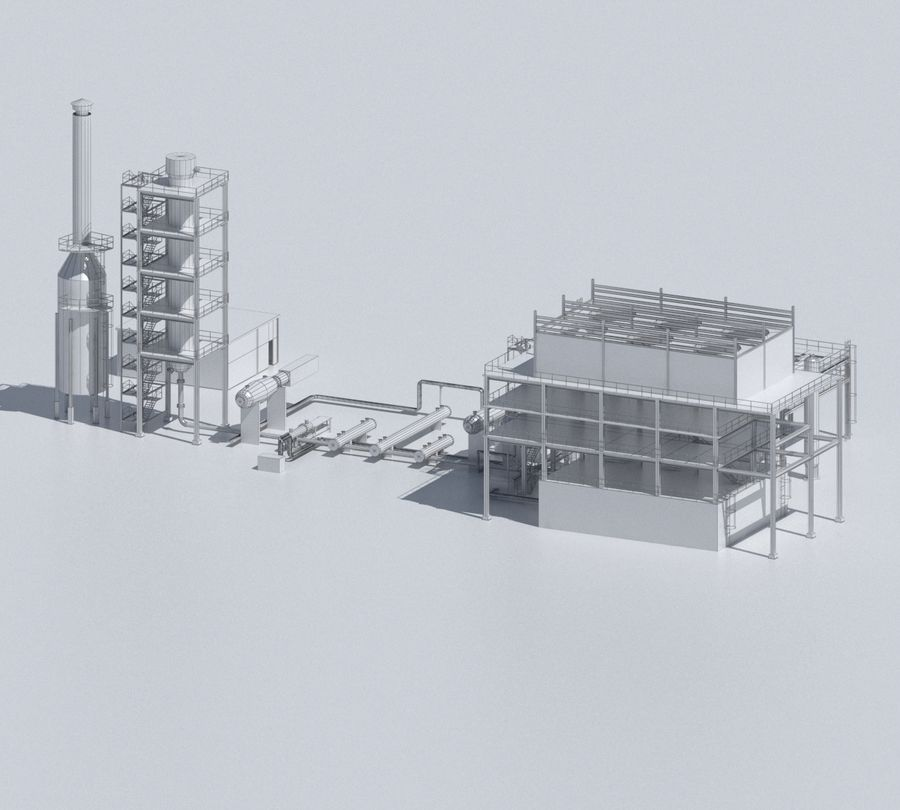 Factory 03 royalty-free 3d model - Preview no. 44