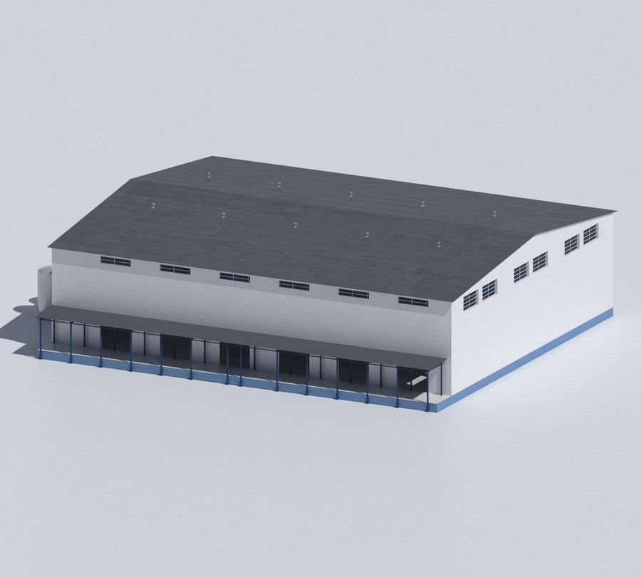 Factory 03 royalty-free 3d model - Preview no. 51