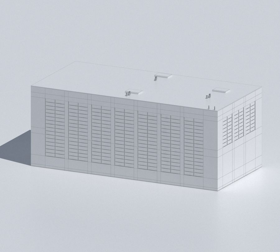 Factory 03 royalty-free 3d model - Preview no. 36