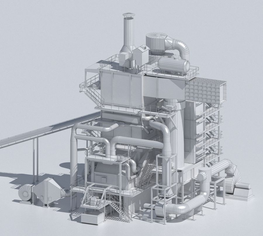 Factory 03 royalty-free 3d model - Preview no. 8