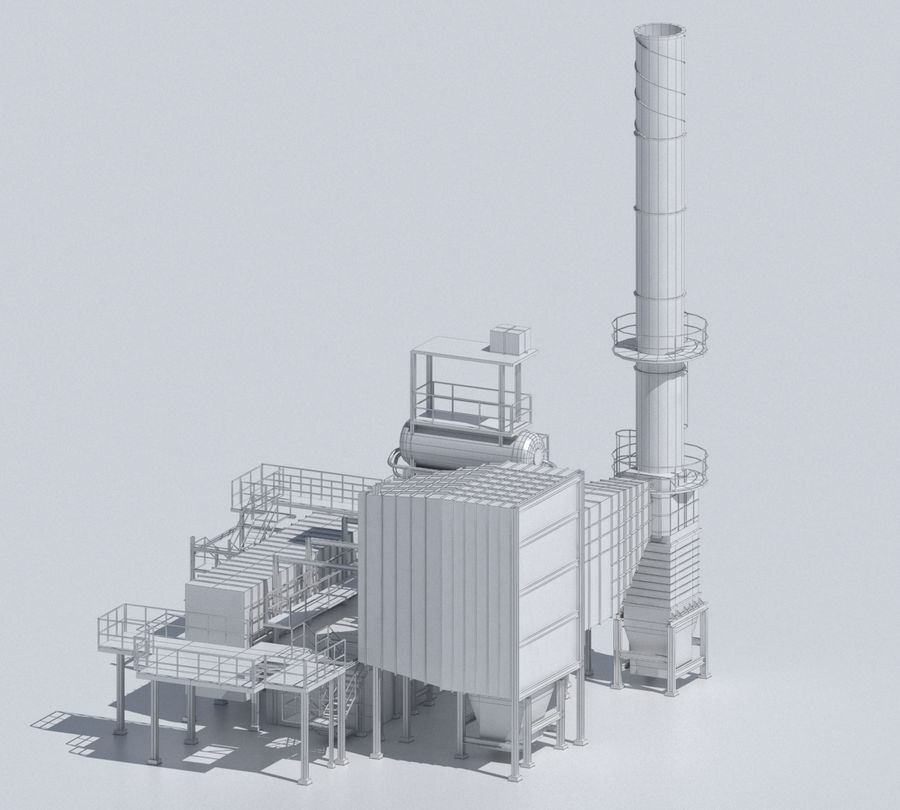 Factory 03 royalty-free 3d model - Preview no. 40