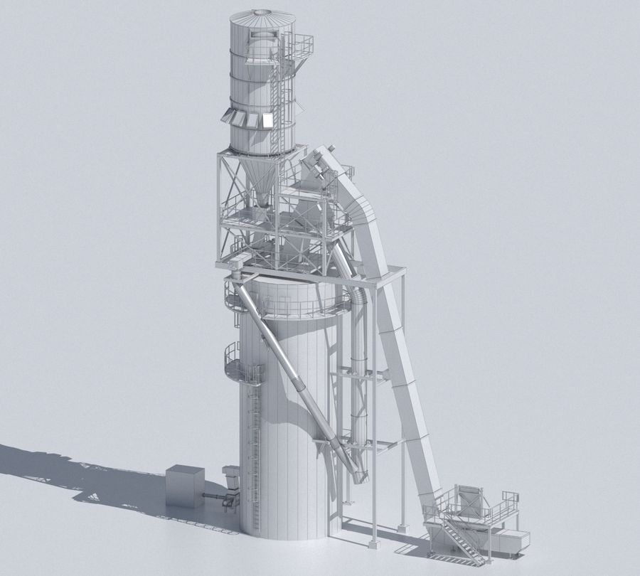Factory 03 royalty-free 3d model - Preview no. 22