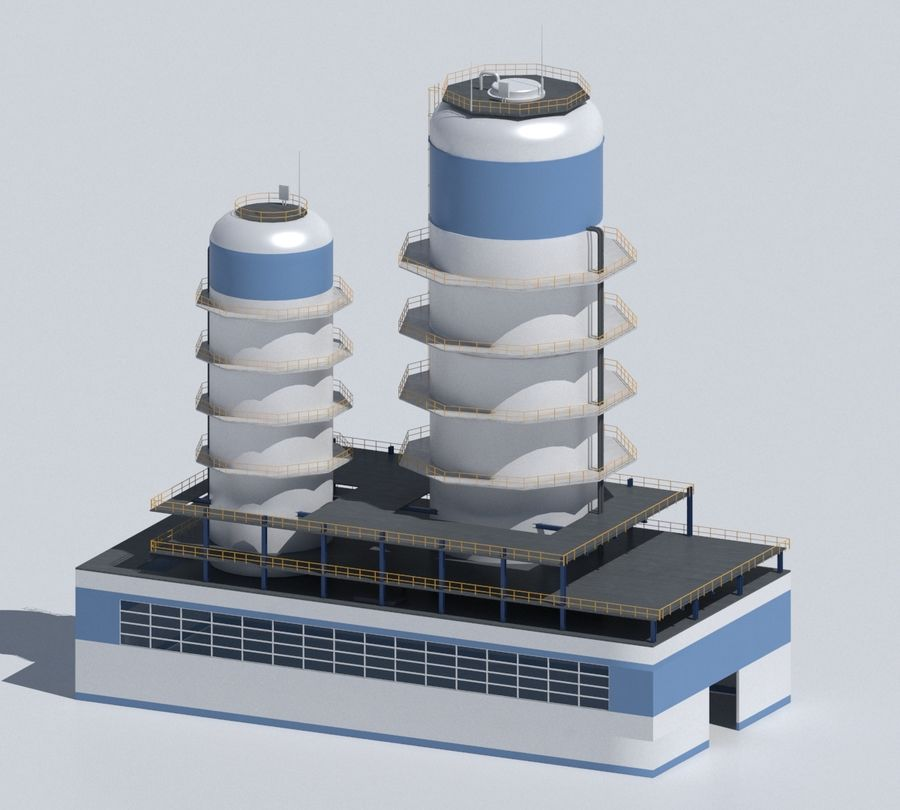 Factory 03 royalty-free 3d model - Preview no. 49