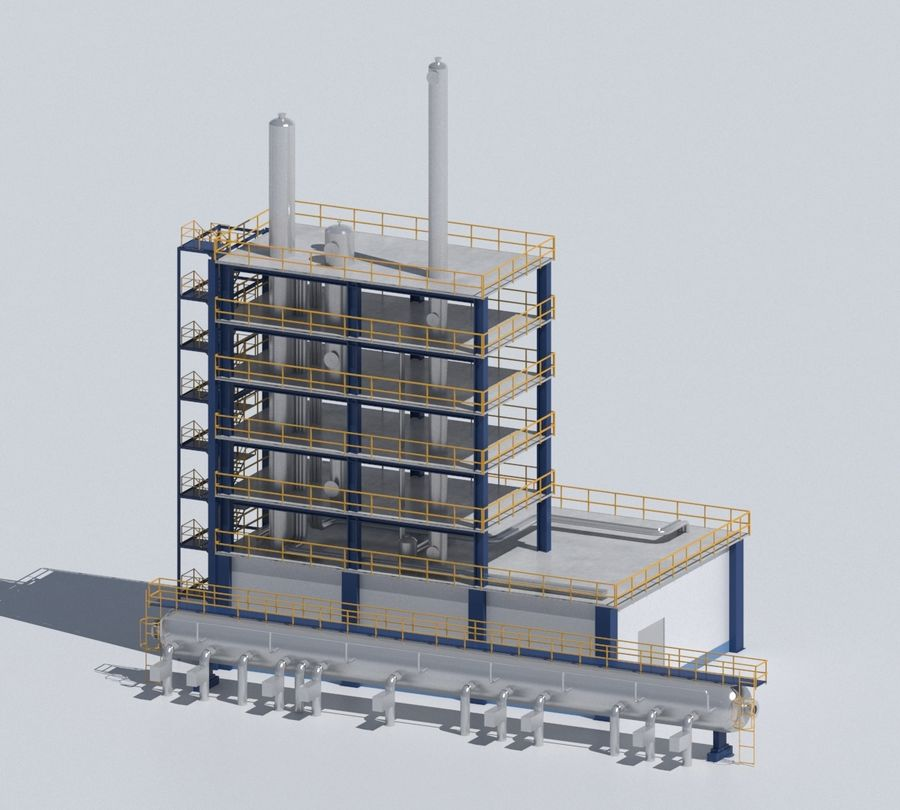 Factory 03 royalty-free 3d model - Preview no. 45