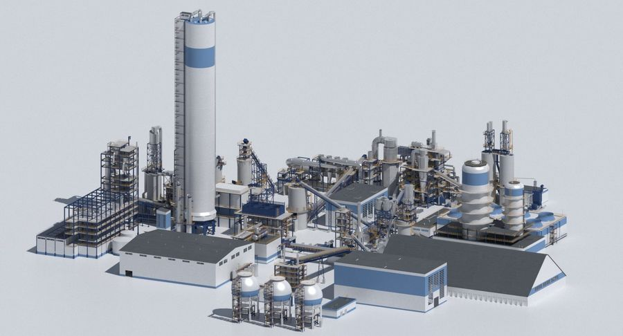 Factory 03 royalty-free 3d model - Preview no. 2