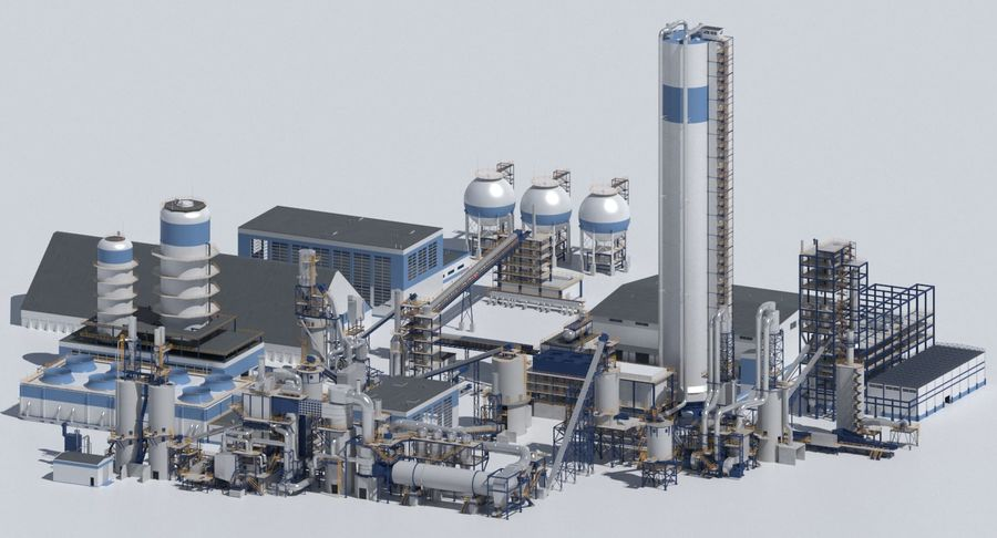 Factory 03 royalty-free 3d model - Preview no. 1