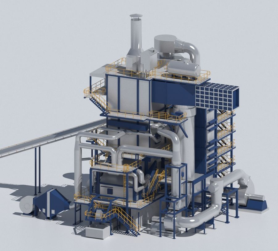 Factory 03 royalty-free 3d model - Preview no. 7