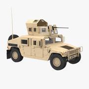 ハンビーM1151強化兵器運搬車シンプルインテリアデザート 3d model