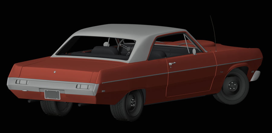 Plymouth Scamp 1971 royalty-free 3d model - Preview no. 4