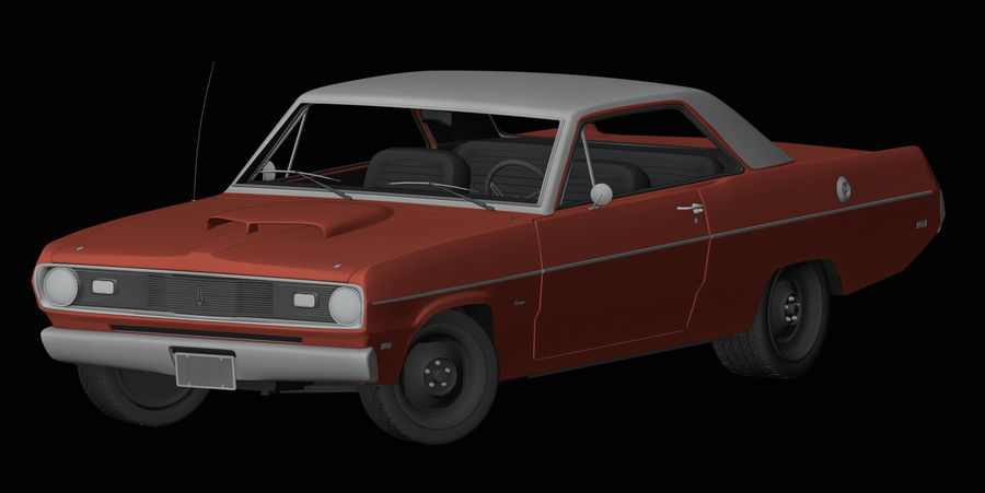 Plymouth Scamp 1971 royalty-free 3d model - Preview no. 3
