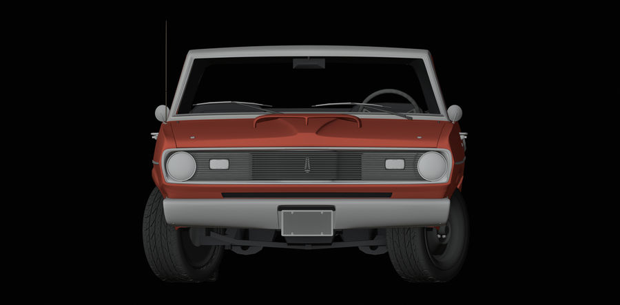 Plymouth Scamp 1971 royalty-free 3d model - Preview no. 8