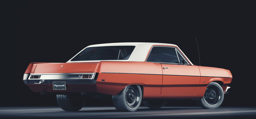 Plymouth Scamp 1971 royalty-free 3d model - Preview no. 2