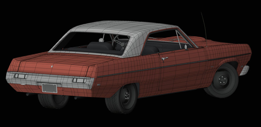 Plymouth Scamp 1971 royalty-free 3d model - Preview no. 12