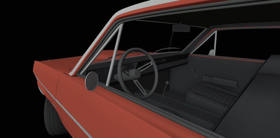 Plymouth Scamp 1971 royalty-free 3d model - Preview no. 10
