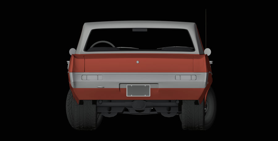 Plymouth Scamp 1971 royalty-free 3d model - Preview no. 9