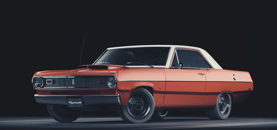 Plymouth Scamp 1971 royalty-free 3d model - Preview no. 1