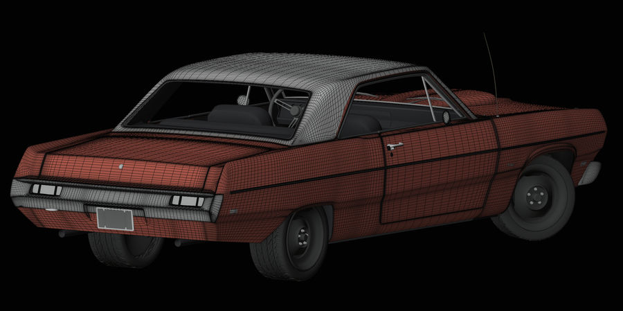 Plymouth Scamp 1971 royalty-free 3d model - Preview no. 14