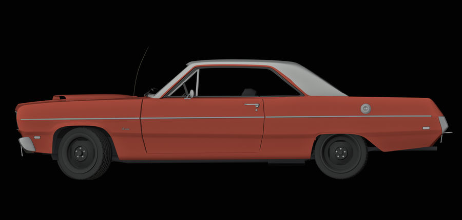 Plymouth Scamp 1971 royalty-free 3d model - Preview no. 5