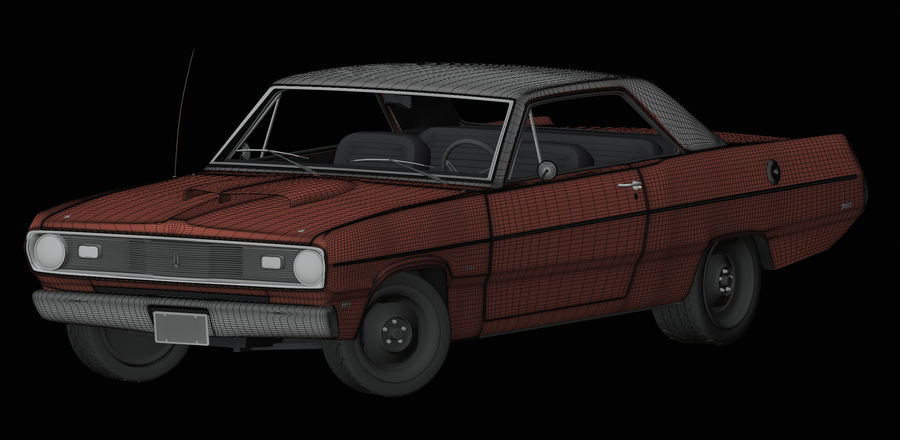 Plymouth Scamp 1971 royalty-free 3d model - Preview no. 13