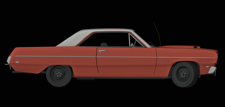 Plymouth Scamp 1971 royalty-free 3d model - Preview no. 7