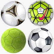 Soccer Ball Collection 3d model